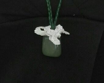 Semi precious stone necklace / / (Aventurine) semi precious stone necklace