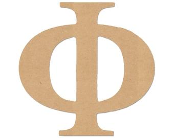 MDF Wood Greek Letters