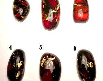 "Natural Baltic Amber Cabochons ""Earth"" Loose Pieces Sold By Piece (Info in description)"