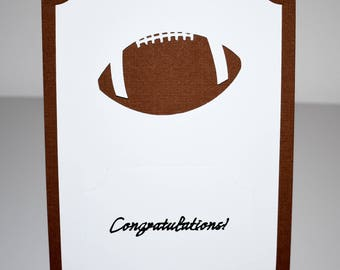 Football Card 5x7 Non-folded