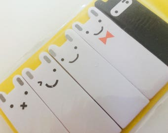 Cute Little Ninja Bunny Sticky Notes/Page Markers