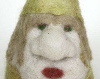 Felted Wool Large Green Tomte Gnome