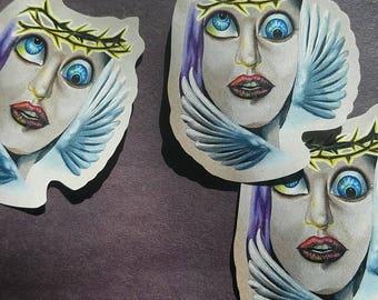 Unholy Dove Stickers