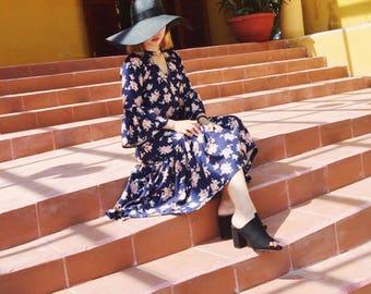Midi Floral Cotton Dress - Sale 50%