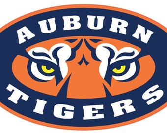 "Auburn University Tigers 5"" to 11"" FULL COLOR vinyl decal sticker"
