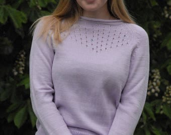 "Pullover made of cotton ""LUNA"" in Lilac color"