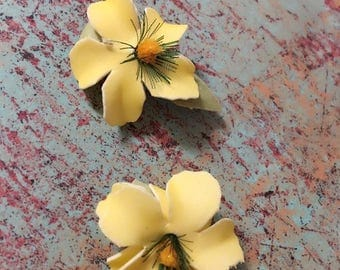 Yellow Mini Hair Clip Set