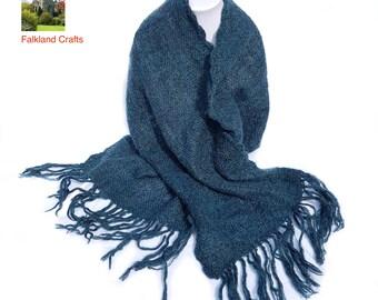 Hand woven mohair stole / wrap