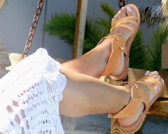 Greek leather sandals, Greek handmade leather sandals,,Hermes winged sandals, summer leather sandals, Women leather sandals,
