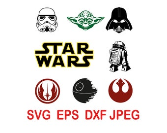 Star Wars.svg,eps,dxf,png.