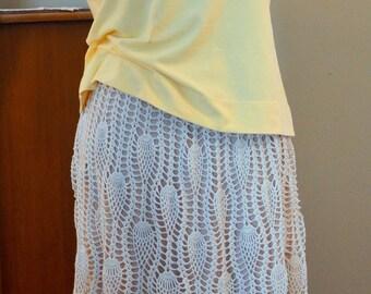 Weightless Lace Handmade Crochet Summer Wonderful Skirt