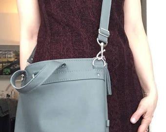 Grey Leather Bag