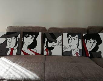 Goemon, Lupin, Jigen, Margot, Zaza