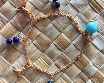 dolphin tale bracelet with lapislazuli#107