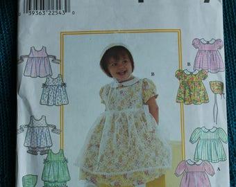 Simplicity 8538 Girls sewing pattern toddler Dress pattern sz 18mo