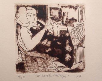 Misinformation - Original Fine Art Print by Australian Artist Jo Parkhill