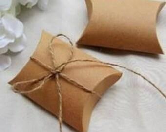 Lot of 10 boxes gift Carton Kraft folding packaging jewelry 9 x 7 x 2, 4cm