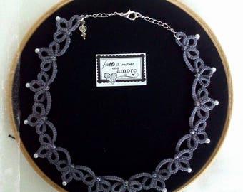 Tatting lace Choker necklace