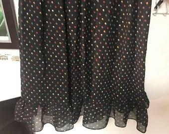 Black dot mini dress vintage