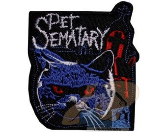 Pet Sematary  Poster Embroidered Patch Cat Stephen King Horror Movie