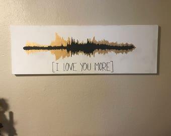 I Love You Soundwave Canvas