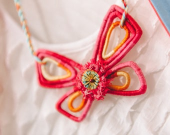 Romantic butterfly handmade necklace