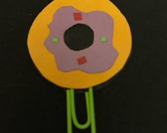 Donut paper planner clip