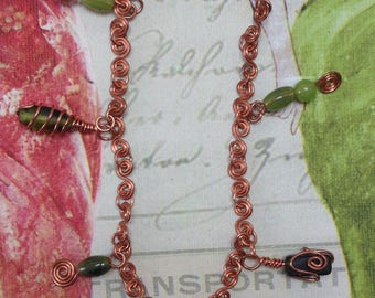 Copperycoo Anklet - green