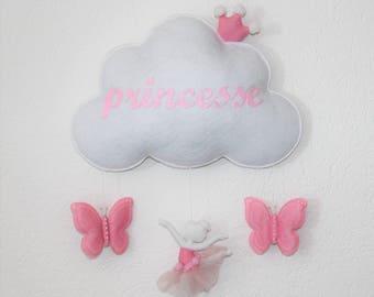 """Princess"" cloud wall decor"