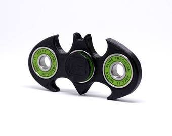 Batman Fidget Spinner. Designed and Manufactured by DIM3NSION 3D Printing. Range of colours and custom personalised designs.