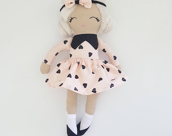 Handmade fabric rag doll