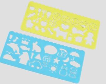 Cartoon Stencils, Journal Stencils, Rulers, Stencils