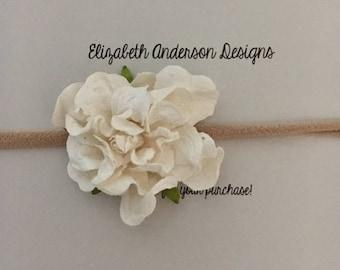 Single Floral Nylon Baby Headband
