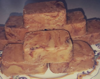 Peanut Butter Fudge with chocolate swirls