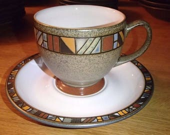 Limited Edition Denby Marrakesh Stoneware Tea Cup & Saucer Set