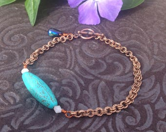 Turquoise Chainmail Bracelet