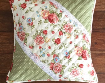 Floral shabby chic cushion cover