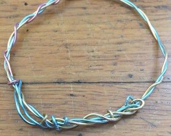 Blue, gold, and rose child's bracelet