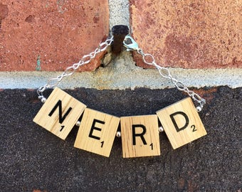 Scrabble Tile Bracelet - NERD