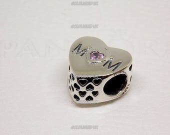 Genuine PANDORA Mother Heart Charm - New, Authentic