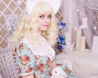 Wavy Blonde Wig, Long Blonde Wig with Waves, Long Pale Blonde Wig, Long Blonde Wig