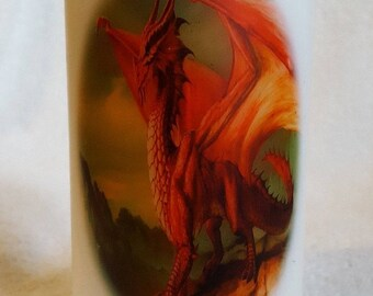 Decorative Fantasy Red Dragon Candle, Home Decor