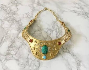 jewel accent collar necklace