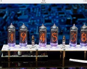 DIY Assembled board for Nixie Clock on IN-14 Tubes.