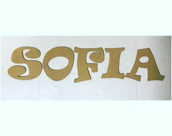 Unfinished Letters, nursery letters, room letters, diy letters, wood letters