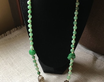 Jade ring necklace