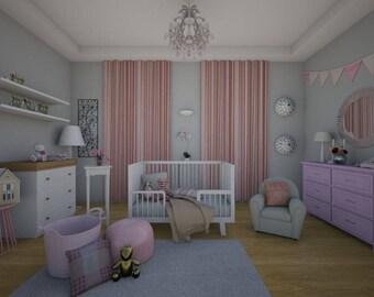 E-Design Package Nursery Room