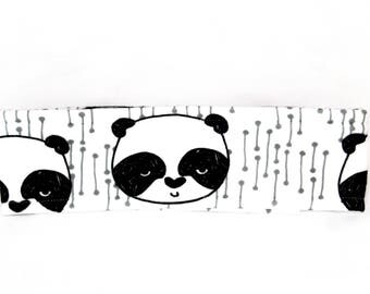 Fleece winter headband. Panda. WYNTER.