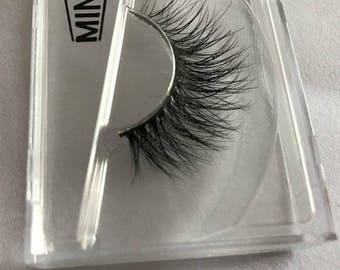 Luxurious 100% Siberian Mink Fur Messy Eye Lashes 3D False Eyelashes