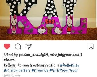 Kustom Made Hello Kitty Themed Letters